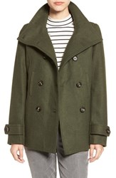 Thread And Supply Women's Double Breasted Peacoat Hunter Green