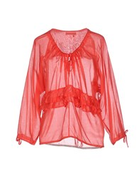 Manila Grace Denim Shirts Blouses Women Red