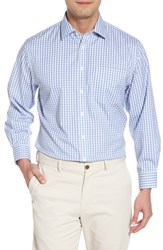 Nordstrom 'S Big And Tall Men's Shop Smartcare Tm Traditional Fit Check Dress Shirt Grey Micro
