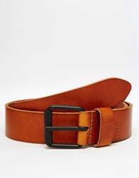 Esprit Leather Casual Belt Brown