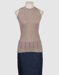 Grazia'lliani Knitwear Sleeveless Jumpers Women Dove Grey