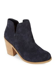 Kenneth Cole Reaction Kite Fly Suede Booties Navy