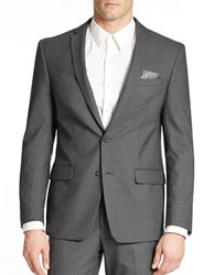 William Rast Two Button Blazer Grey