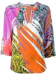Etro Multi Print Tunic Top Pink And Purple