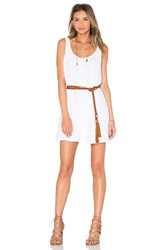 Michael Stars Double Gauze Scoop Neck Tank Dress White