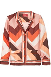 F.R.S For Restless Sleepers Ade Printed Silk Twill Shirt Pink Gbp