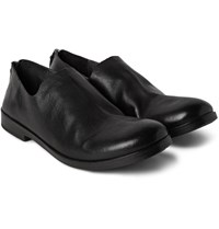 Marsell Washed Full Grain Leather Loafers Black