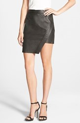 Women's Pam And Gela Asymmetrical Leather Skirt