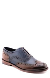 Jared Lang Men's Wingtip Navy Blue