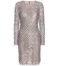 Michael Kors Sequin Embellished Dress Silver