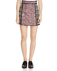 French Connection Pixel Mix Textured Skirt Black Multi