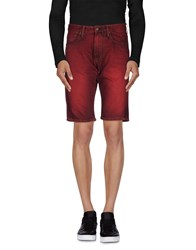 Reign Denim Denim Bermudas Men Brick Red