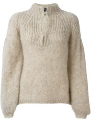 Tom Ford Keyhole Detail Jumper Nude And Neutrals