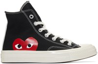 Comme Des Garcons Play Black Converse Edition Chuck Taylor All Star 70 High Top Sneakers