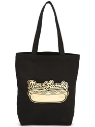 Marc Jacobs Logo Hot Dog Print Tote Black