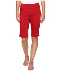 Fdj French Dressing Jeans D Lux Denim Pull On Bermuda In Red Red Women's Shorts