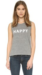 Textile Elizabeth And James Happy Dean Tank Heather Grey White