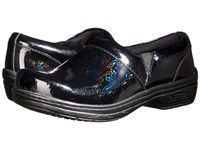 Klogs Footwear Mission Black Hologram Patent Women's Clog Shoes