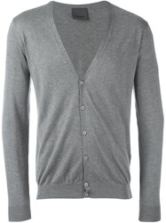 Laneus V Neck Cardigan Grey