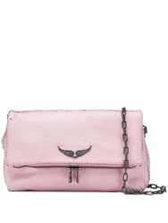 Zadig And Voltaire Rocky Keith Shoulder Bag Pink