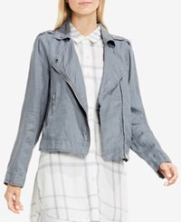 Vince Camuto Two By Linen Moto Jacket Gray Dawn