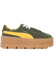 Fenty X Puma Cleated Creeper Sneakers Calf Leather Rubber 7.5 Green