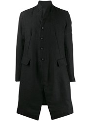 Masnada Single Breasted Fitted Coat Black