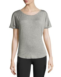 Beyond Yoga Out Of Slink Cowl Back Dolman Athletic Tee Medium Gray