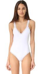 Kiini Valentine Scoop Swimsuit White Silver
