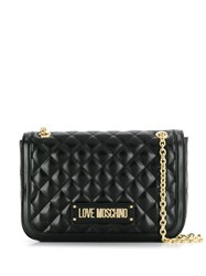 Love Moschino Quilted Shoulder Bag Black