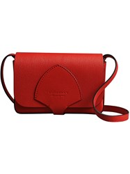Burberry Equestrian Shield Leather Wallet Red
