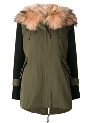 Forte Couture New Gala Military Parka Women Cotton Polyester Acetate Raccoon Dog 42 Green
