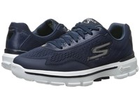 Skechers Go Walk 3 Navy White Men's Slip On Shoes Blue
