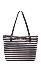 Kate Spade Small Maya Tote Black Clotted Cream