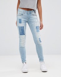 Pepe Jeans Alyx Patch Mom Denim Blue