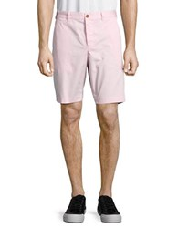 French Connection Solid Cotton Shorts Sure Pink
