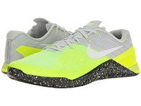 Nike Metcon 3 Pure Platinum Black Volt Ghost Green Men's Cross Training Shoes Yellow
