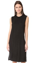 Alexander Wang T By Classic Overlap Dress With Pocket Black