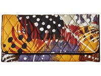 Vera Bradley Trifold Wallet Painted Feathers Wallet Handbags Multi