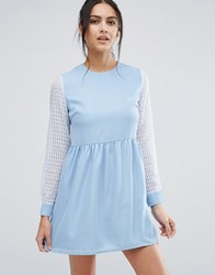 Jovonna Jovanna Right Direction Skater Dress Blue