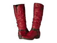 Rieker 93758 Wine Nougat Mogano Women's Dress Boots Red