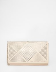New Look Studded Clutch White