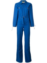 Jc De Castelbajac Vintage Denim Patch Boiler Suit Blue