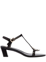 Roger Vivier 45Mm Chips Leather Sandals Black