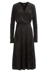 Etro Flocked Dress With Wool Black