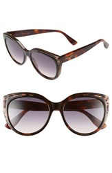 Jimmy Choo Women's 'Nicky' 56Mm Cat Eye Sunglasses Animal Havana