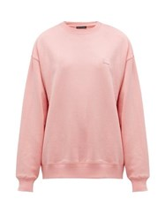 Acne Studios Fairview Face Cotton Sweatshirt Light Pink