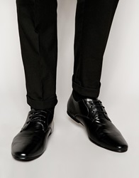 New Look Faux Leather Derby Shoes Black