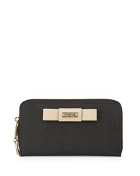 Badgley Mischka Wendi Zip Wallet Black Latte