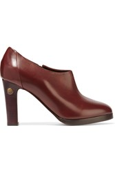 Bruno Magli Gyali Leather Ankle Boots Red